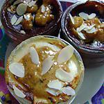 recette flans vanille et choco poires
