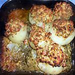 recette Oignons farcis fourvières
