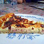 recette Quiche lardons / chèvre/ emmental