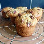 recette Muffins aux noix de pécan et au chocolat blanc