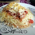 recette Capellini sauce tomate aux petits poulpes parmesan