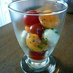 recette Salade tomate/mozza/melon