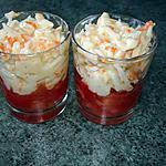 recette verrine de tomates et râpé de surimi- mayonnaise
