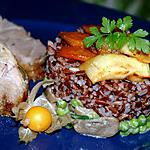 recette Méli mélo de riz sauvage aux légumes et rôti de porc