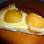 recette TARTE AUX PECHES CREME FROMAGE BLANC (pour diabétiques également)