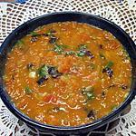 recette sauce tomates aux basilic vert et rouge.