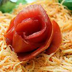 recette Décoration de plat (rose/tomate) et....