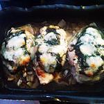 recette Blancs de poulets farcis aux champignons
