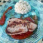 recette Steack de thon à la catalane