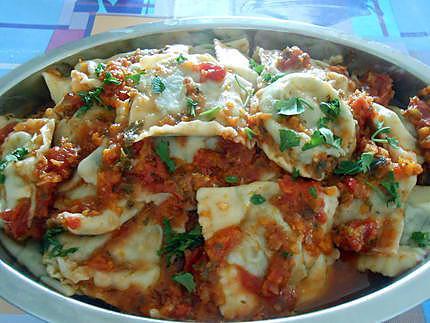 Escalopes milanaise panees paprika origan et tortellini tomate 430