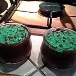 recette Petits pots de creme au chocolat a la menthe