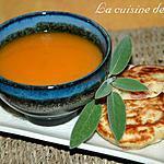 recette Velouté de courge muscade et blinis au jambon de pays et parmesan