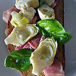 recette Bruschetta au jambon de Parme et artichaut
