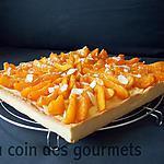 recette Tarte à la crème/Abricots au miel-romarin