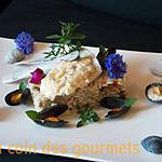 recette Filet de turbo-sauce au beurre-blanc- Risotto aux moules
