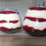 recette La verrine aux framboises et spéculoos de Georgette
