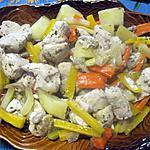 recette Sauté de dinde aux légumes anciens.