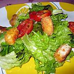 recette Salade verte aux nuggets