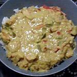 recette poulet au curry avec légumes