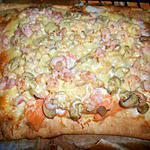 recette Pizza truite fumée crevettes