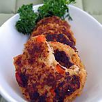 recette Croquettes de riz complet au chèvre et aux noix