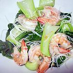recette Sauté de crevettes au pak choï