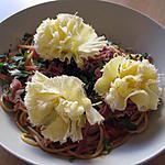 recette Spaghettis jambon de Parme et Tête de Moine
