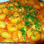 recette Gnocchi à la sauce tomates et mozzarella
