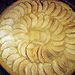 recette tarte aux pommes et crème d'amandes.
