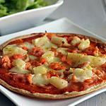 recette TORTILLA SAUMON CREVETTES ANANAS FACON PIZZA