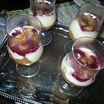 recette dessert mascarpone péches framboises