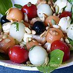 recette Méli Mélo d'été aux deux melons et mozzarella