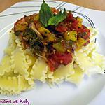 recette Spaghetti à la pancetta et poivrons
