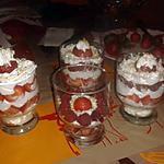 recette Verrine fraise, framboise et chantilly