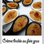 recette Crème brulée au foie gras