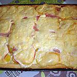 recette Pizza P de terre- bacon  et  fromage à raclette
