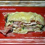 recette Lasagnes aux courgettes, bacon et fromage frais