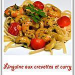 recette Linguine aux crevettes et curry