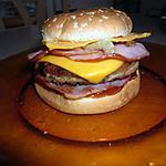recette burger american bacon