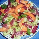 recette Salade de melon au magret de canard fumé