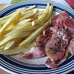 recette Bacon aux herbes et frites maison