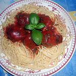 recette Spaghetti aux boulettes de viande
