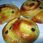 recette Pains aux raisins