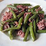 recette Haricots sautés au corned beef