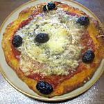 recette Petites pizzas au chorizo et fromage de chèvre.