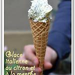 recette Glace italienne au citron et à la menthe