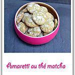 recette Amaretti au thé matcha