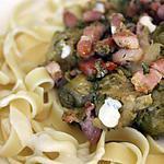 recette Tagliatelle et choux bruxelle et sa sauce roquefort