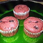 Muffins red velvet au coeur chocolaté
