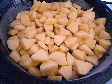 Clafoutis pommes et crème de marrons 430